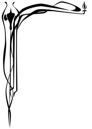 bordure de page: Art d�co de style bordure de page Illustration