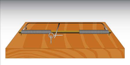 piege souris: Une base de bois traditionnel et pi�ge � souris fil � ressort