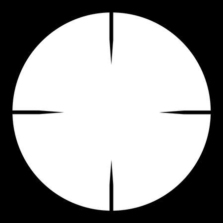 The cross hairs of a telescopic sight  Illustration