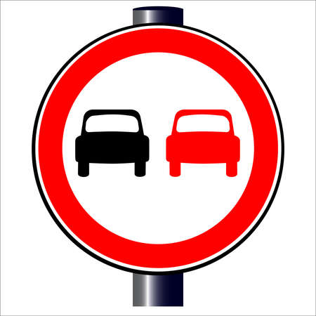 No Overtaking Stock Vector - 20387981