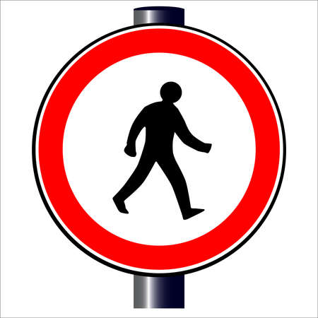 Walking man traffic sign  Stock Vector - 20387980