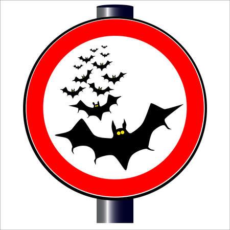 Bats traffic sign Stock Vector - 20388020
