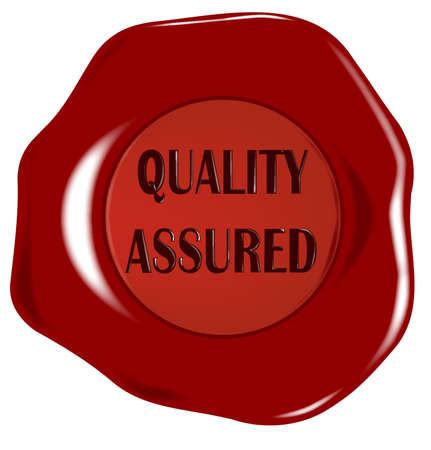 assured: Calidad garantizada sello de cera Vectores