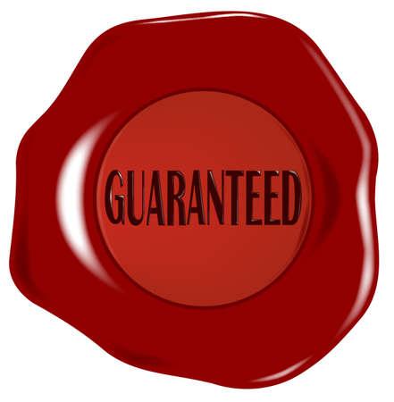 Guaranteed wax seal Stock Vector - 20987229