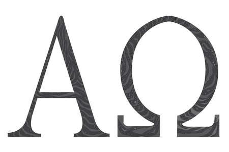 Die Alpha - Omega Symbole aus der christlichen Religion