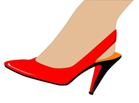 stilleto: A ladies ankle and stiletto heal shoe  Illustration