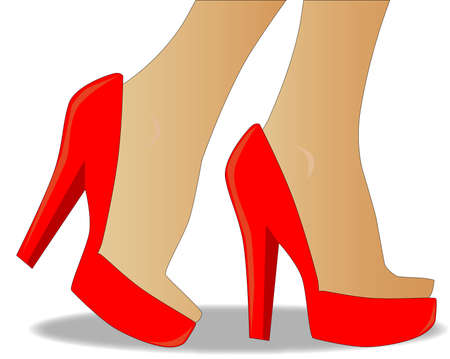 heals: Red stiletto heals  Illustration