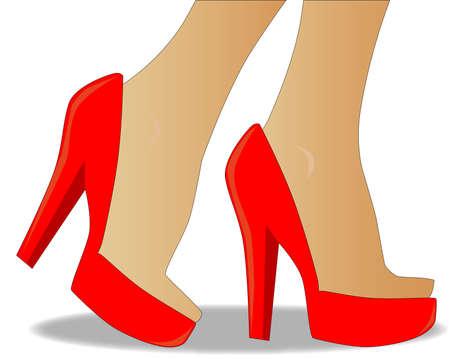 heals: Red stiletto heals  Illustration