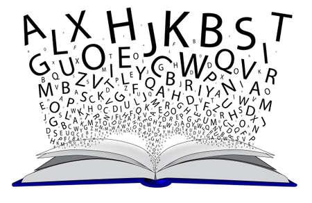 Un Libro Abierto Con Las Cartas De Vuelo De Las Páginas ...