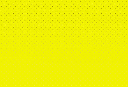 spoted: A yellow grunge background with a series of grey fading dots  Illustration