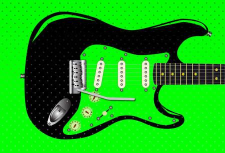 spoted:  black guitar