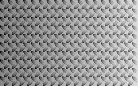 tread: A metal tread pattern of faded aluminium or steel