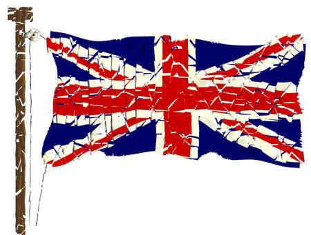 The British Union Jack Flag Grunge Effect