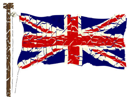 The British Union Jack Flag Grunge Effect  Vector