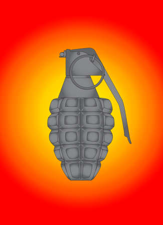 world war ii: A World War II Hand grenade ove a colourful background