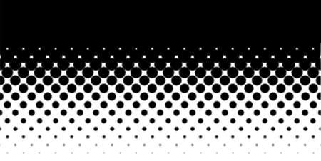 Une image demi-teinte avec des points blancs réglée sur un fond noir Vecteurs
