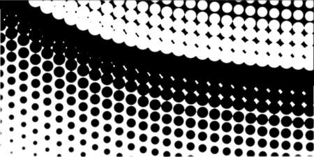 half tone: A half tone image with white dots set against a black background  Illustration