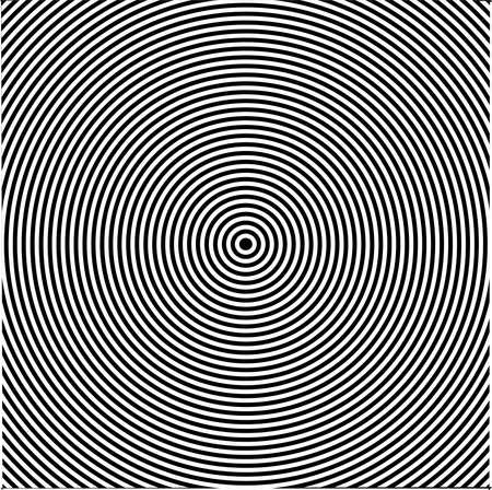 vertigo: A black and white circles vertigo efect