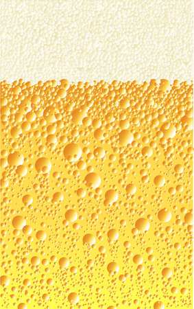 Bubbles and froth on a fizzy drink
