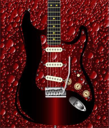 pickups: Una bolla di fondo del modello cola con una chitarra rock sovrapposto