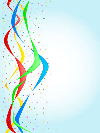 Multi confetti and streamers, a party image  Vector