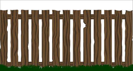 白地に分離された古い木製フェンス 写真素材 - 22959732