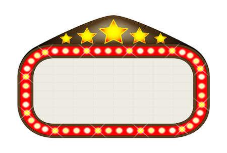 A blank movie theatre or theatre marquee Banco de Imagens - 22959734