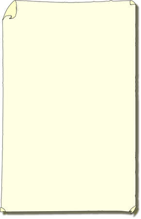 A blank paper wall poster