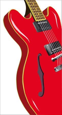 gibson: A classic semi solid electro spanish jazz and blues guitar