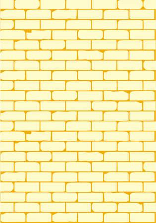 cemented: Un viejo muro de ladrillo victoriana que muestra signos de desgaste Vectores