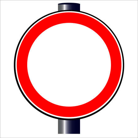 A large round red traffic displaying ablank copy space area Stock Vector - 23180105