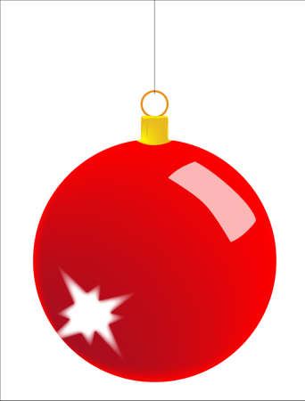 A Christmas bauble isolated over white