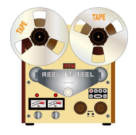Un carrete a carrete típica grabadora maestra estéreo cuarto de pulgada