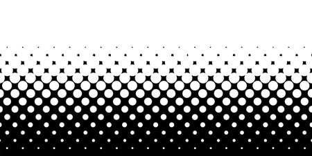 A half tone image with white dots set against a black background  Illustration