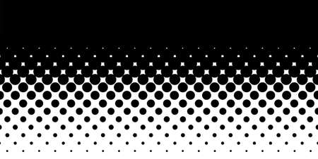 A half tone image with black dots set against a white and black background  Illustration