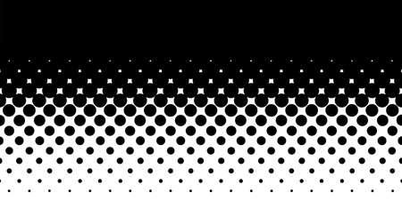 Une image de demi-teinte avec des points noirs contre un fond blanc et noir