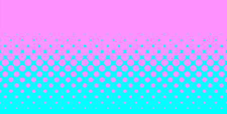 half tone: A half tone image with pinkdots set against a blue background
