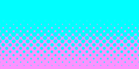 half tone: A half tone image with blue dots set against a pink background  Illustration