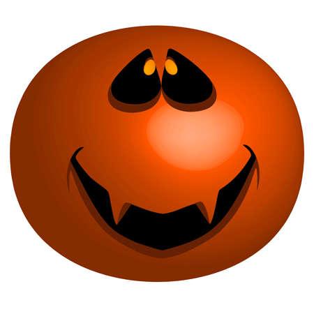 A halloween pumpkin typw mask with the traditionally carved halloween face  Illusztráció