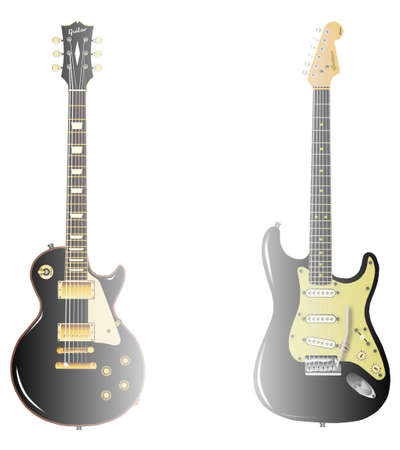 stratocaster: The definitive rock and roll guitars in black on a blended isolated background