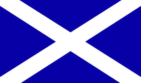 scot: The official flag for Scotland - Part of the United Kingdom of Great Britain  Illustration
