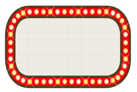A blank movie theatre or theatre marquee  Vector