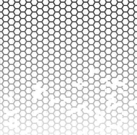 one sided: A honeycomb pattern with a faded effect  Illustration