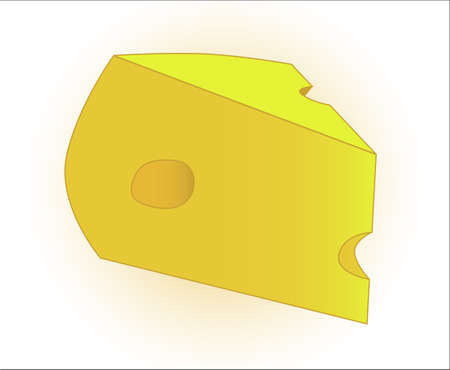 wedge: A wedge of cheese complete with holes