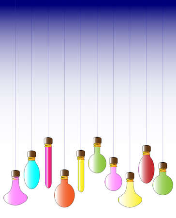 A collection of hanging lightbulbs Stock Vector - 23469184