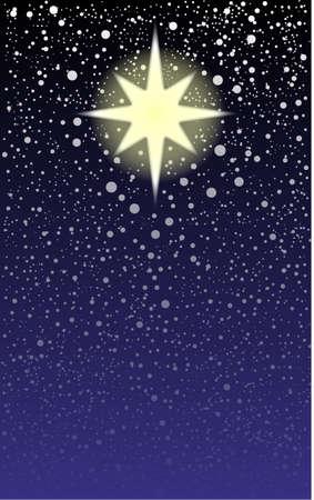 brightest: La stella pi� luminosa del cielo, la stella di Natale Vettoriali