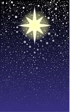 The brightest star in the sky, the Christmas star  Illustration