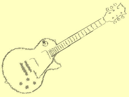 definitive: The definitive rock and roll guitar in black sketch style
