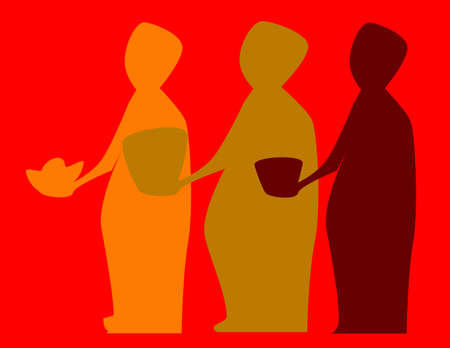 The three wise men bearing gifts Vector