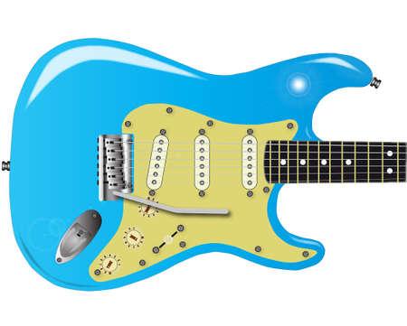 pickups: Una chitarra tradizionale corpo solido elettrica dal 1950 s Vettoriali